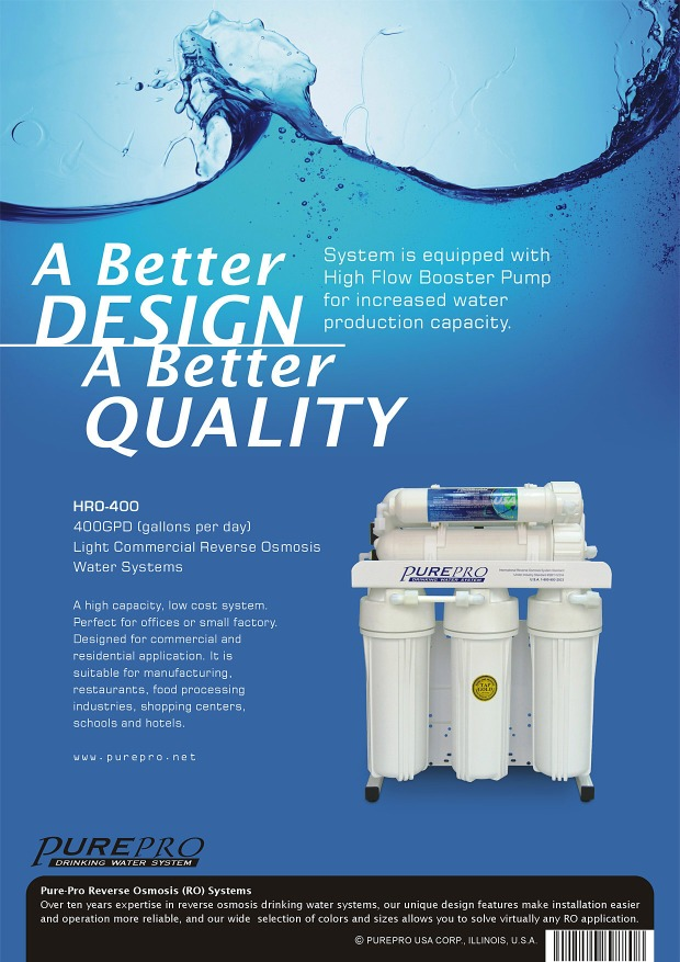 Purepro 174 Hro 400 Reverse Osmosis Water Filter Systems